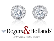 Earrings & R and H Logo