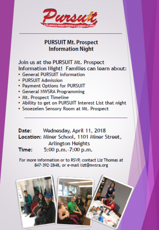 PURSUIT Mt. Prospect Information Night @ Miner School   Arlington Heights   Illinois   United States
